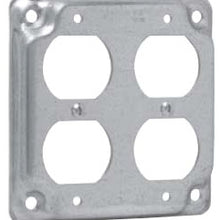4 Inch Box, 2-Duplex Receptacle, Square Box Surface Cover - Dalf-Point