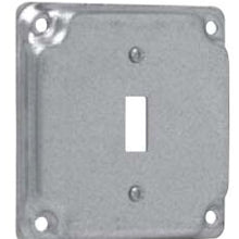 4 Inch Box, 1-Toggle Switch, Square Box Surface Cover - Dalf-Point