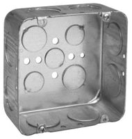 4-11/16 Inch x 2-1/8 Inch x 4-11/16 Inch, Steel, Square Outlet Box - Dalf-Point