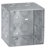 2-Gang, 3-3/4 Inch x 3-1/2 Inch x 3-3/4 Inch, Steel, Masonry Box - Dalf-Point