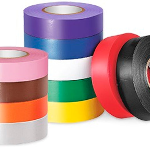 3/4 Inch x 66 Foot, Brown, PVC, Color-Coding Electrical Tape - Dalf-Point