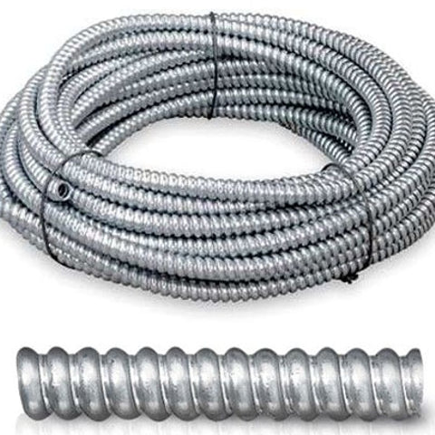 1/2 Inch x 100 Foot, Low Carbon Steel, Reduced Wall, Flexible Conduit (Length: 100FT ) - Dalf-Point