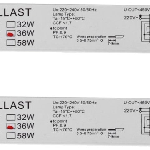 54 Watt, F54T5/HO, Programmed Start, Fluorescent Electronic Ballast - Dalf-Point