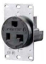 250 V, 50 Amp, 6-50R, Black, Single Receptacle - Dalf-Point