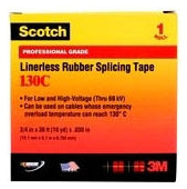 3/4 Inch x 30 Foot, Black, EPR Linerless, Splicing Tape - Dalf-Point