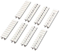 5 MM, 11 to 20, Black/White, 10-Section, Strip, Terminal Block Marker - Dalf-Point