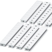 8 MM, 11 to 20, Black/White, 10-Section, Strip, Terminal Block Marker - Dalf-Point