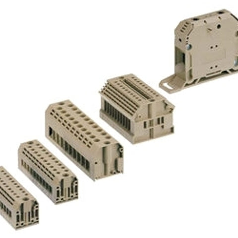 26 to 10 AWG, Single Tier 1-Circuit, Ground Modular Terminal Block - Dalf-Point
