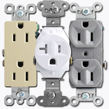 125 VAC, 20 Amp, 5-20R, White, Decorator Duplex Receptacle - Dalf-Point