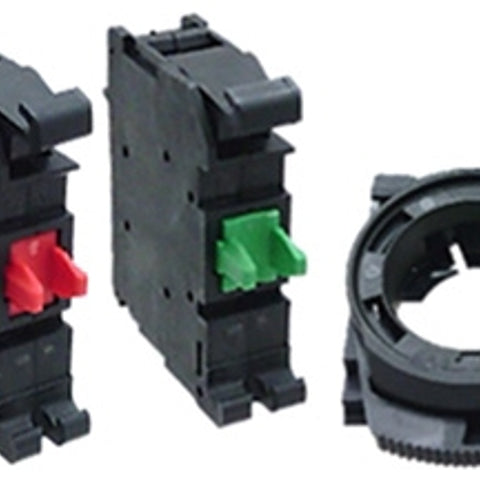 1NO-1NC, Thermoplastic, Standard/Heavy Duty, Pushbutton Contact Block - Dalf-Point