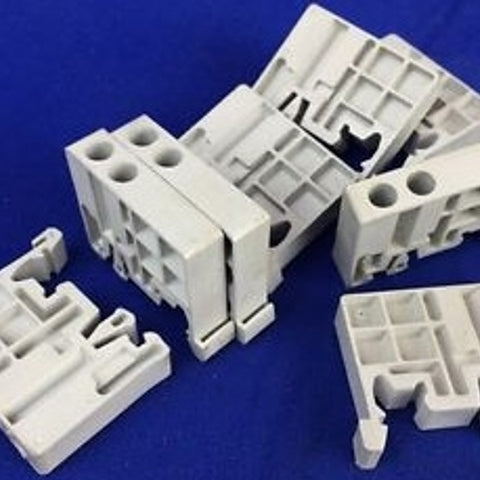 48.6 MM x 9.5 MM x 32.8 MM, Polyamide, Terminal Block End Clamp - Dalf-Point
