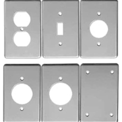1-Gang, 1-GFCI Receptacle, Steel, Flat, Utility Box Cover - Dalf-Point