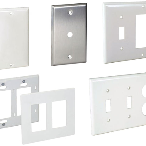 2.75 Inch x 4.5 Inch, Brushed, 302/304 SS, Standard Wall Plate - Dalf-Point