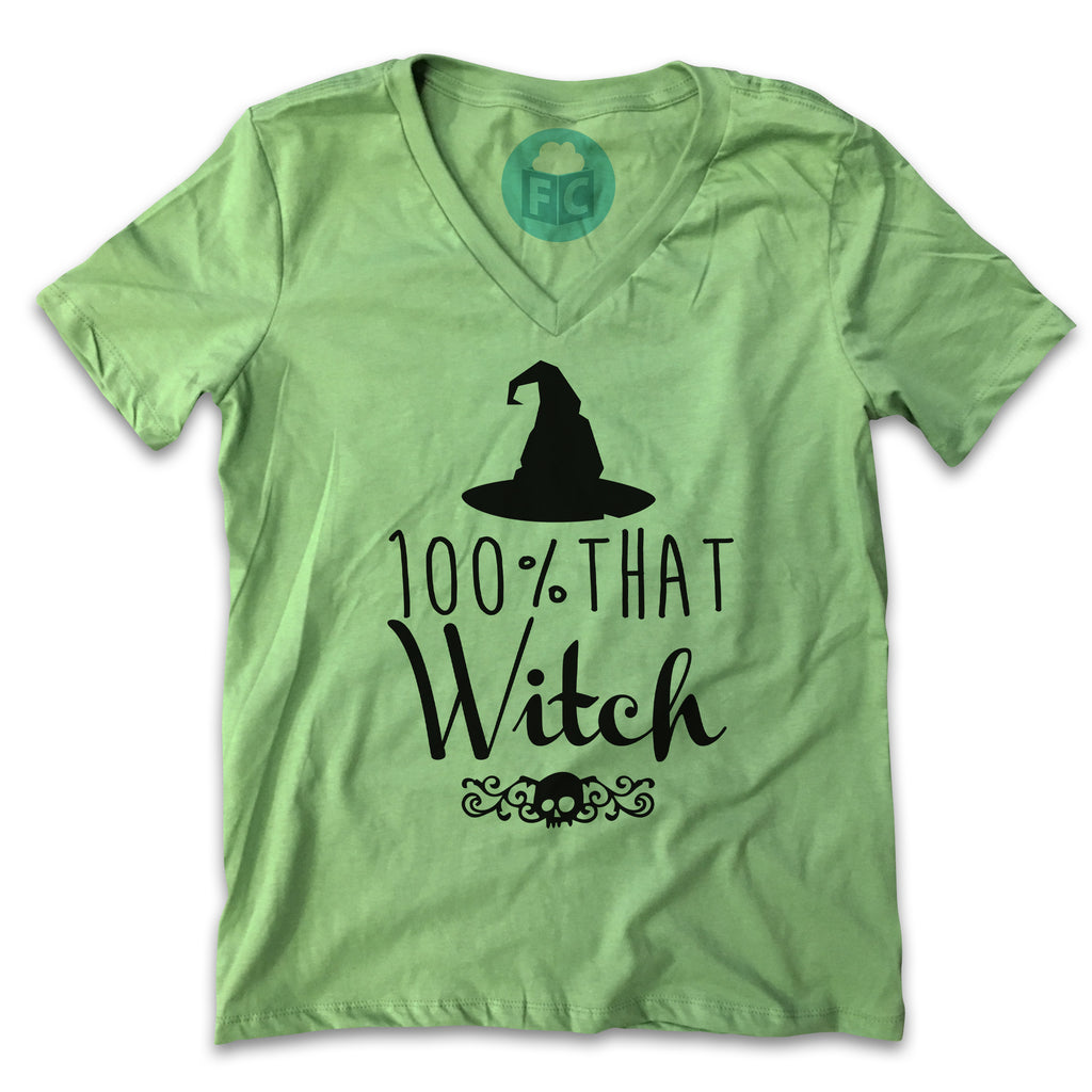 100% That Witch - Women's V-Neck