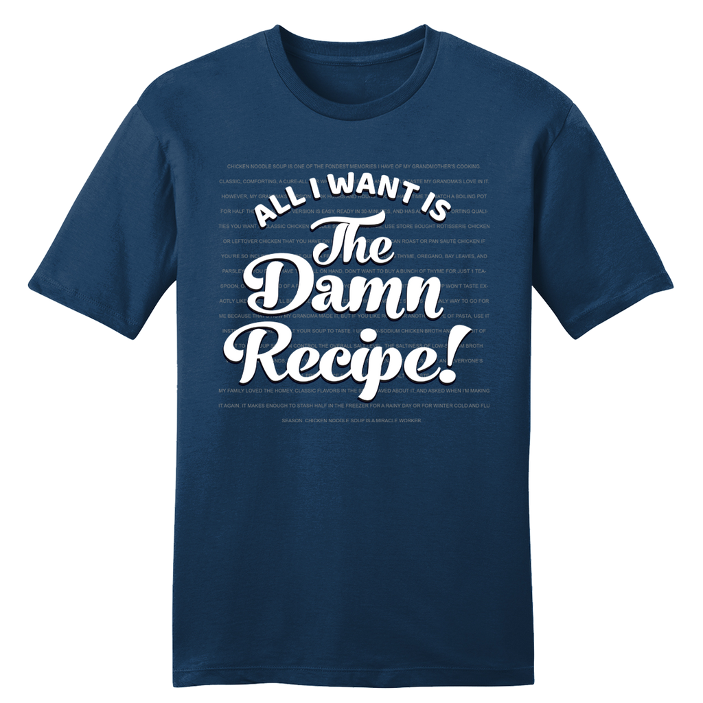 All I Want Is the Damn Recipe