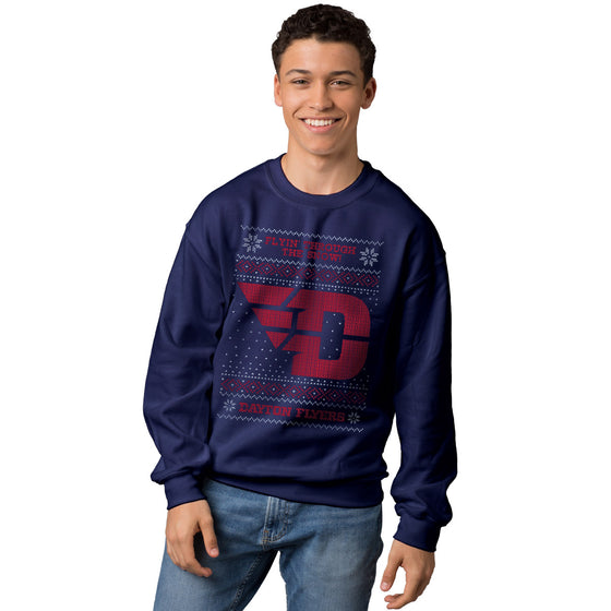 Official Dayton Flyers Ugly Christmas Sweatshirt