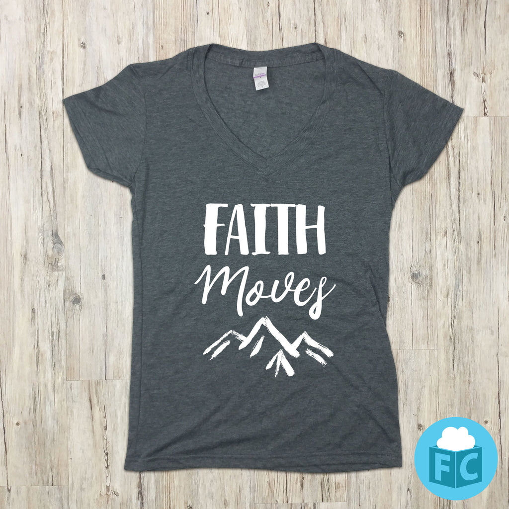 Faith Moves Mountains - Women's V-Neck
