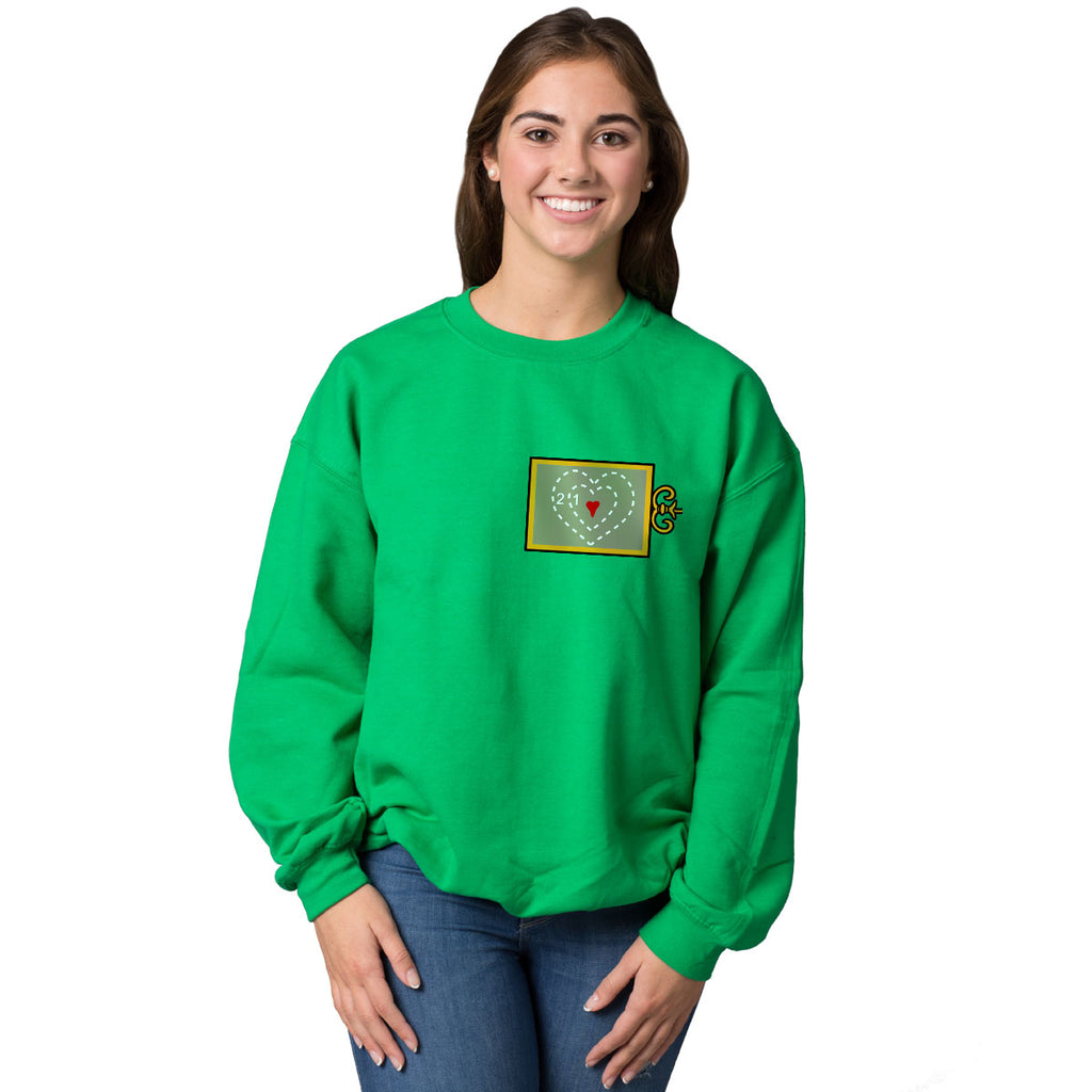 Heart Size X-Ray Ugly Christmas Sweatshirt