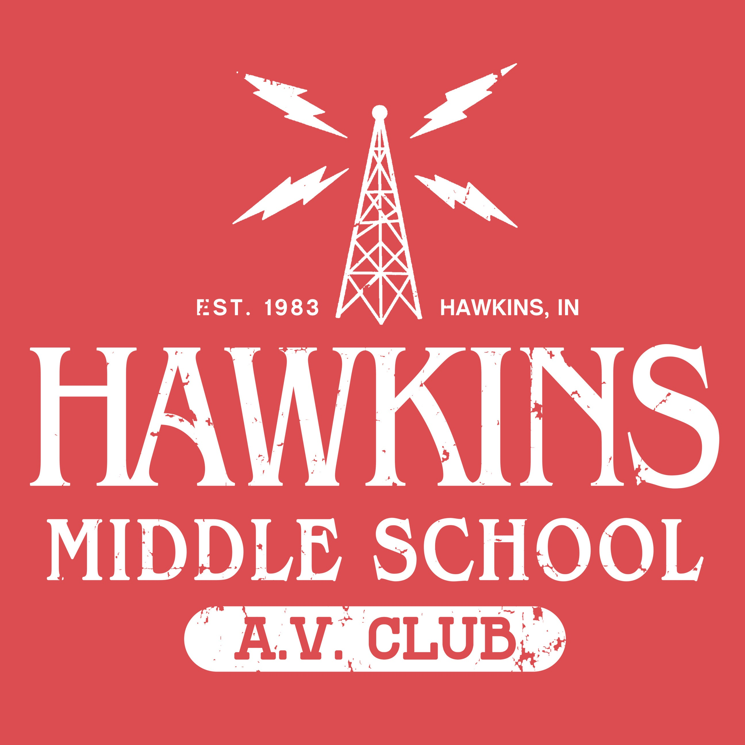 Hawkins Middle School Stranger Things Apparel Fluffy Crate