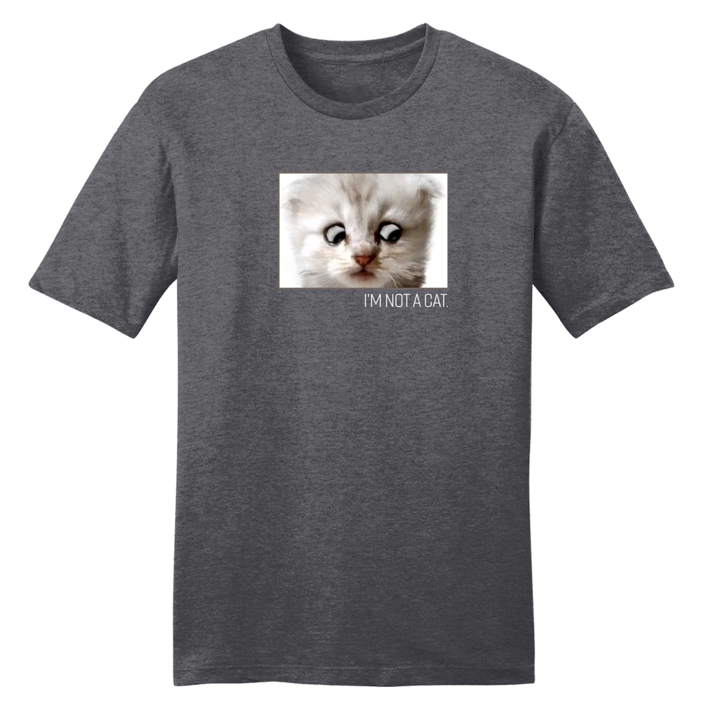 I'm Not a Cat Heather Charcoal tee