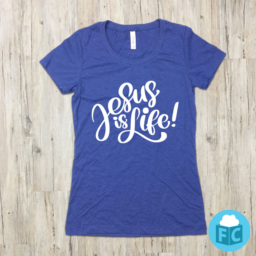 Jesus Is Life - Women's Scoop Necks