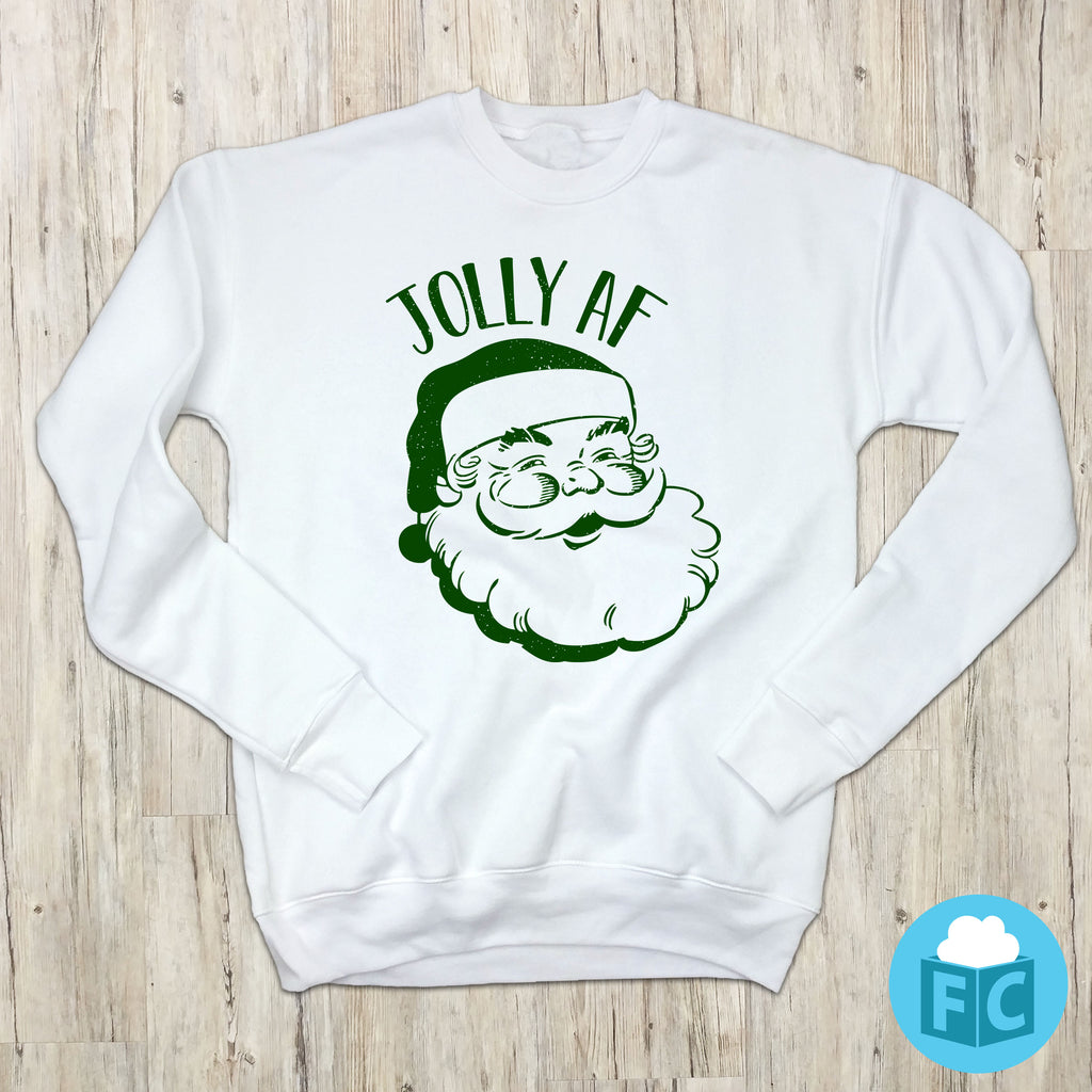 Jolly AF Ugly Christmas Sweatshirt
