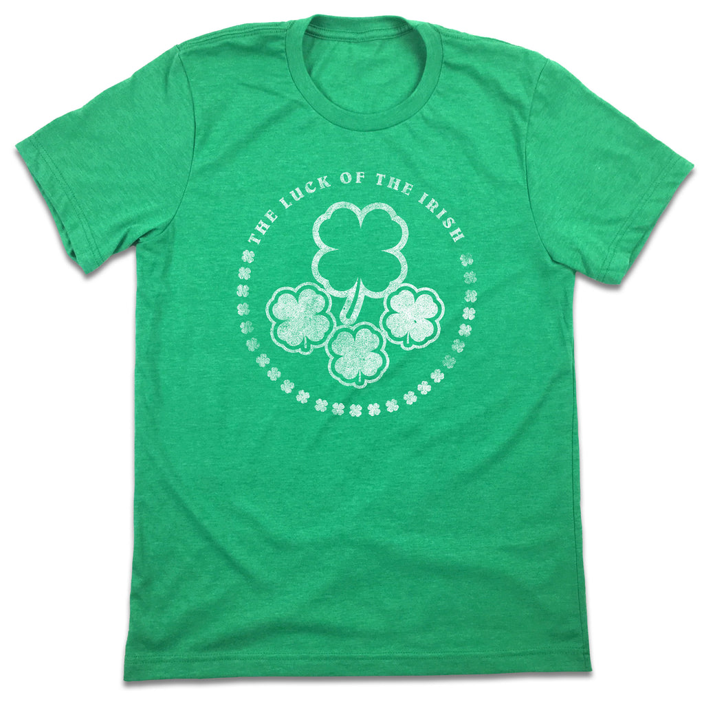 The Luck Of The Irish Shamrock Design T-shirt