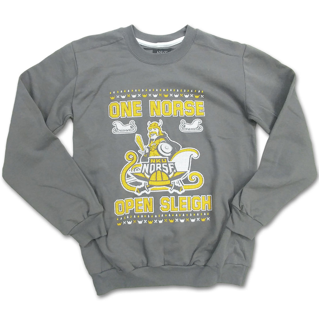 NKU One Norse Open Sleigh Ugly Christmas Sweatshirt