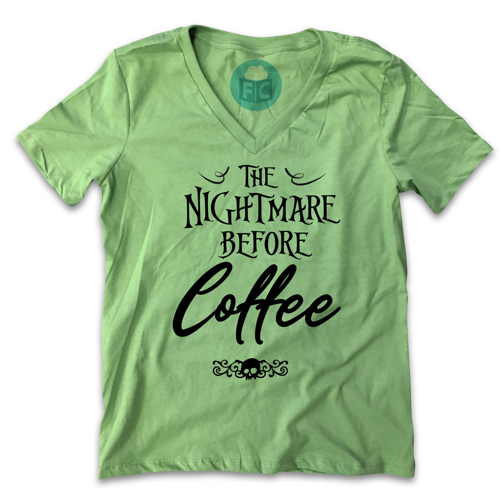 The Nightmare Before Coffee - Women's V-Neck