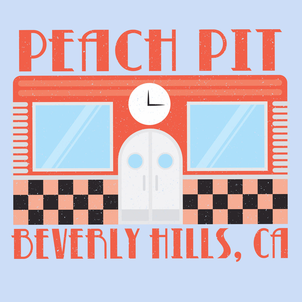 Peach Pit Beverly Hills, CA - Light Blue