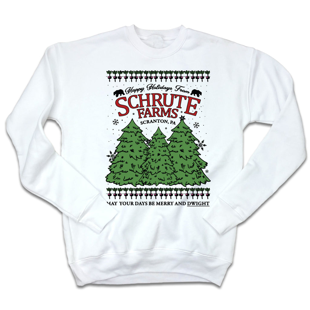 Schrute Farms Ugly Christmas Sweatshirt