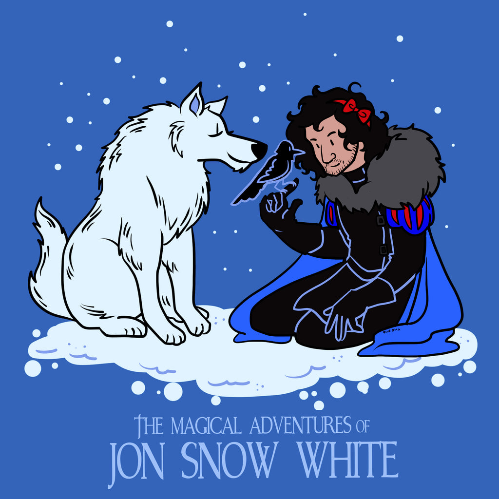 The Magical Adventures of Jon Snow White - Women's V-Neck