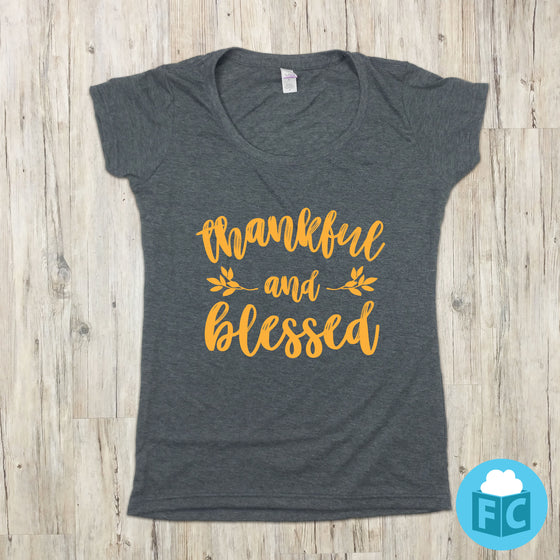 Thankful and Blessed | Women's Scoop Neck