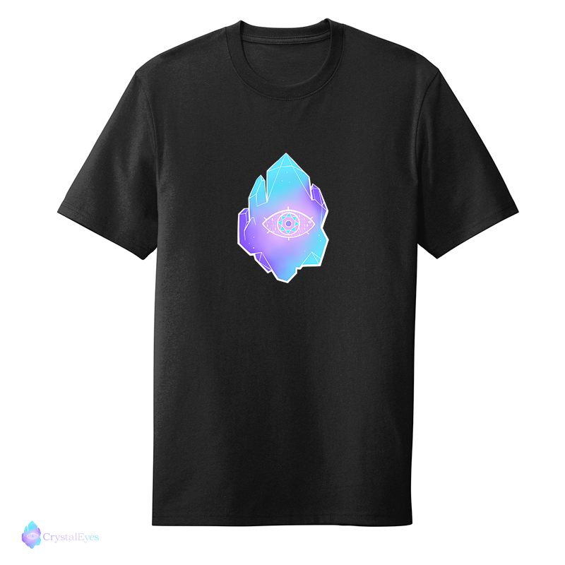 CrystalEyes Full Logo - Large Black Tee