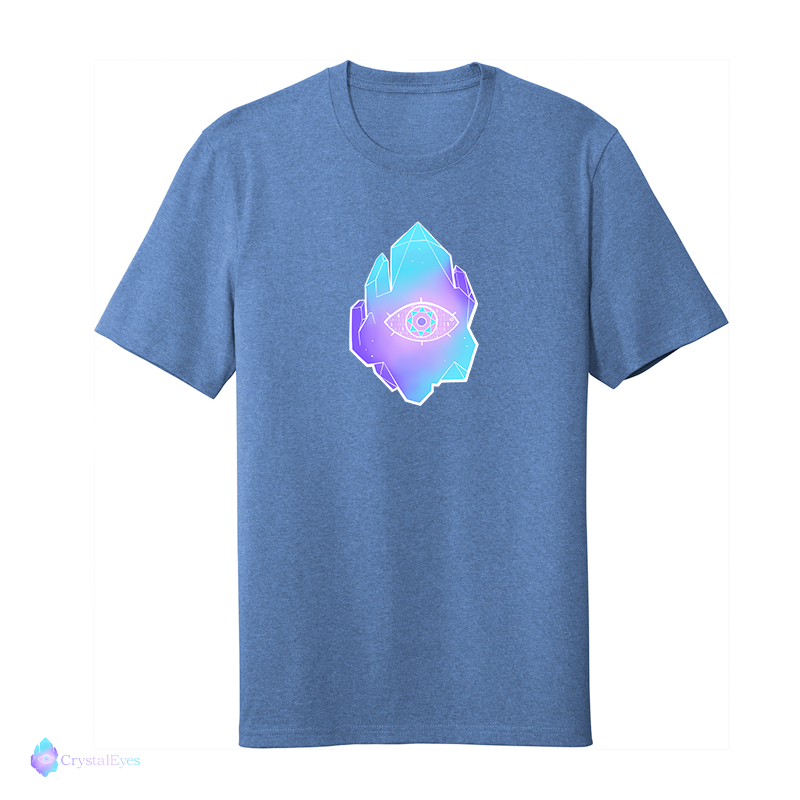 CrystalEyes Full Logo - Large Heather Royal Tee
