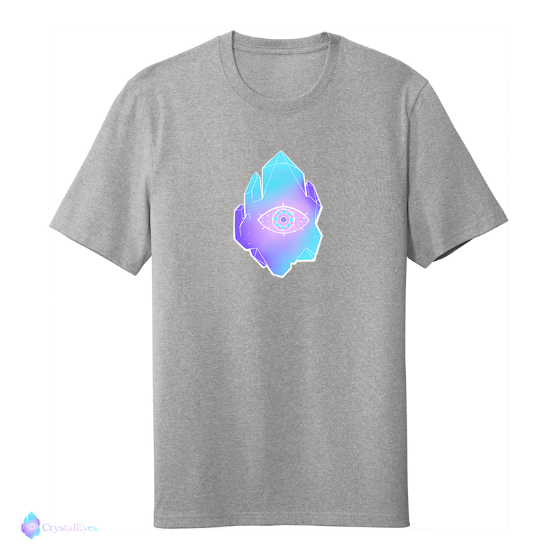CrystalEyes Full Logo - Large Heather Grey Tee