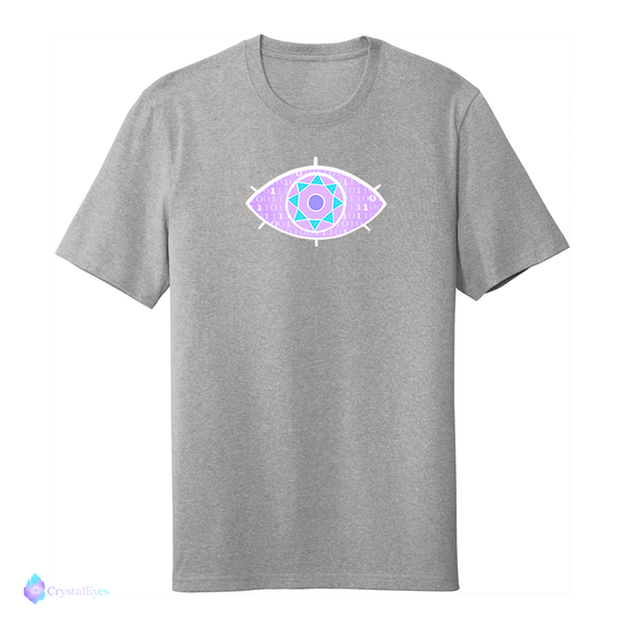 CrystalEyes Color - Large Logo Heather Grey Tee