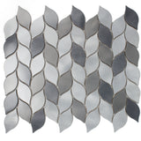 AFD-07 Aluminum Silver and Grey Leaf Metal Mosaic Tile