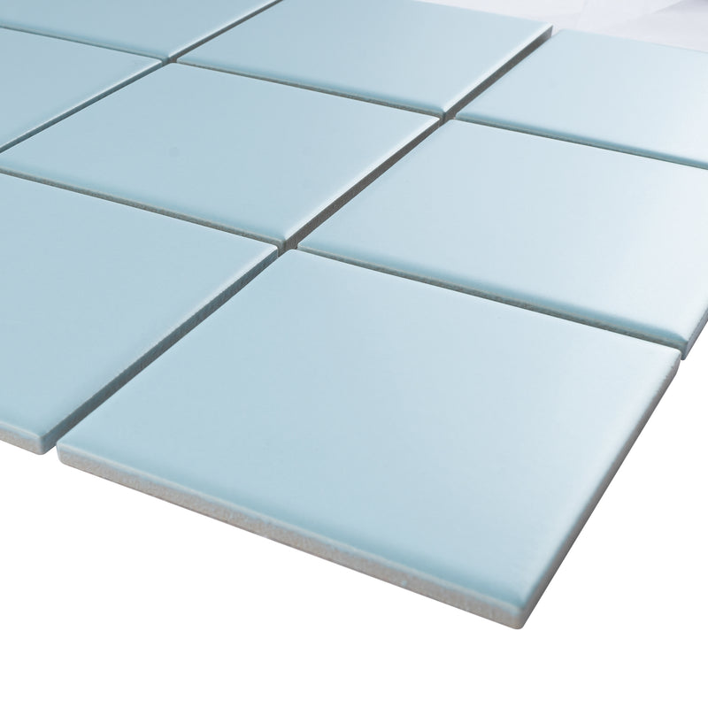 BT-PM11  4X4 Blue Porcelain Satin Mosaic Tile