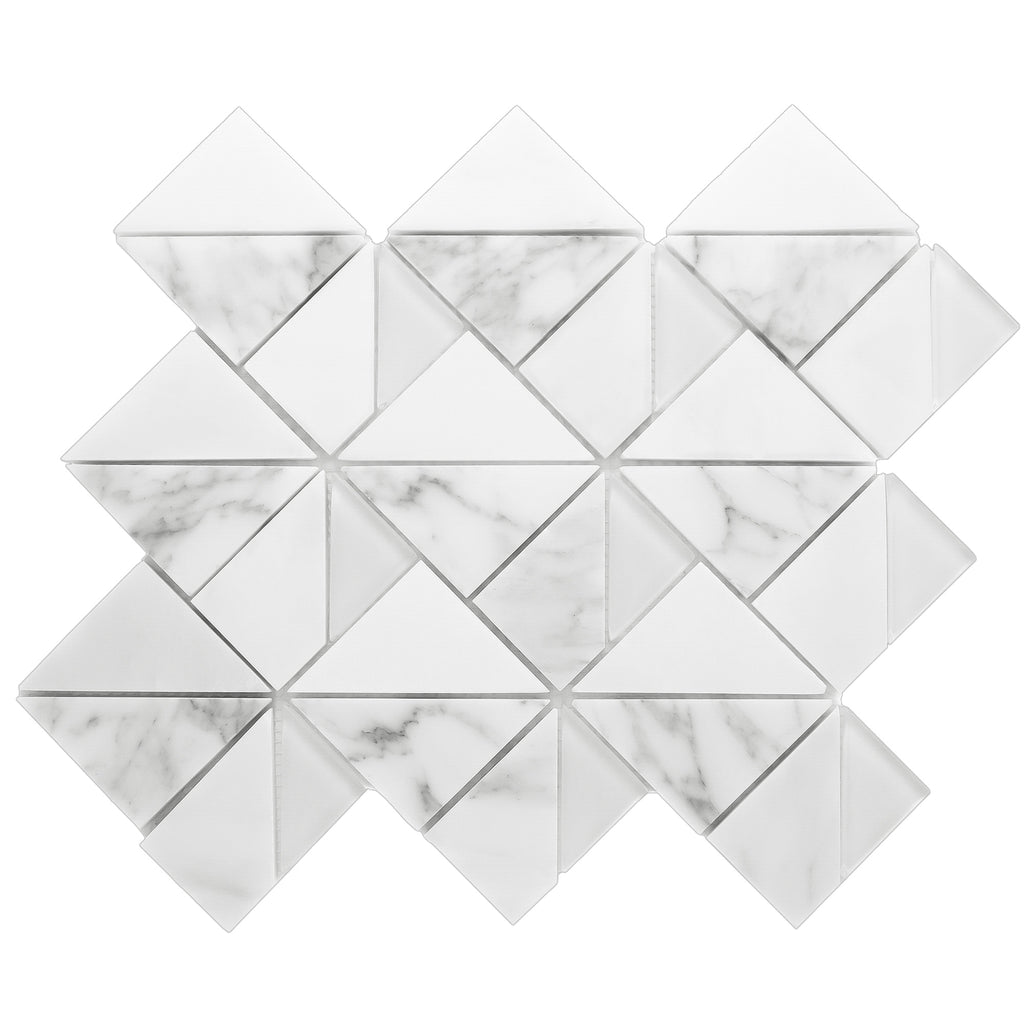 MOP-01 MOUNTAINTOP SERIES - Matterhorn White Carrara Mosaic tile