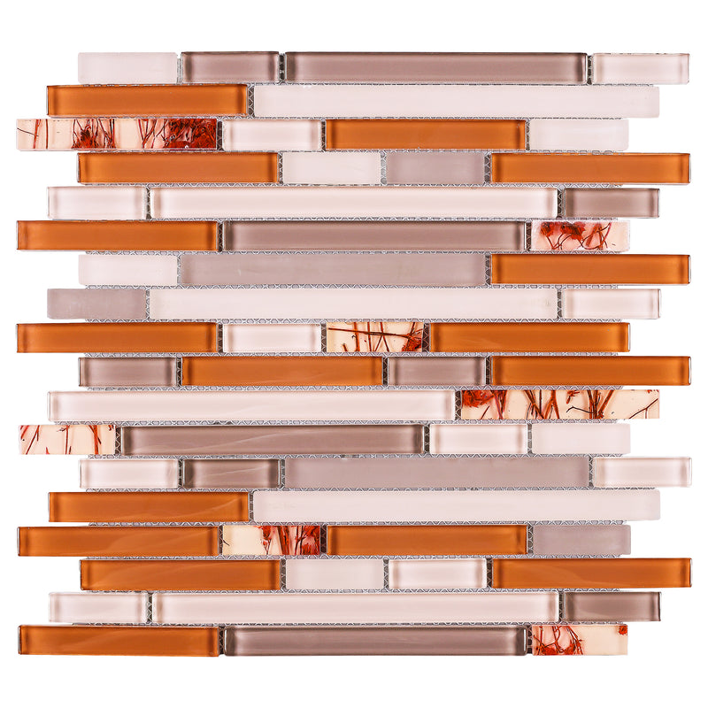 NLQ-03  Natural Series - Orange Tree Mosaic Tile