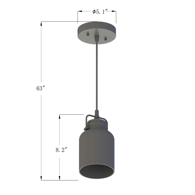 PL0001  1-Light Dimmable LED Pendant Light