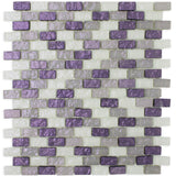 PRN-01 Paragon Series-Shell Purple Glass Mosaic Tile Backsplash