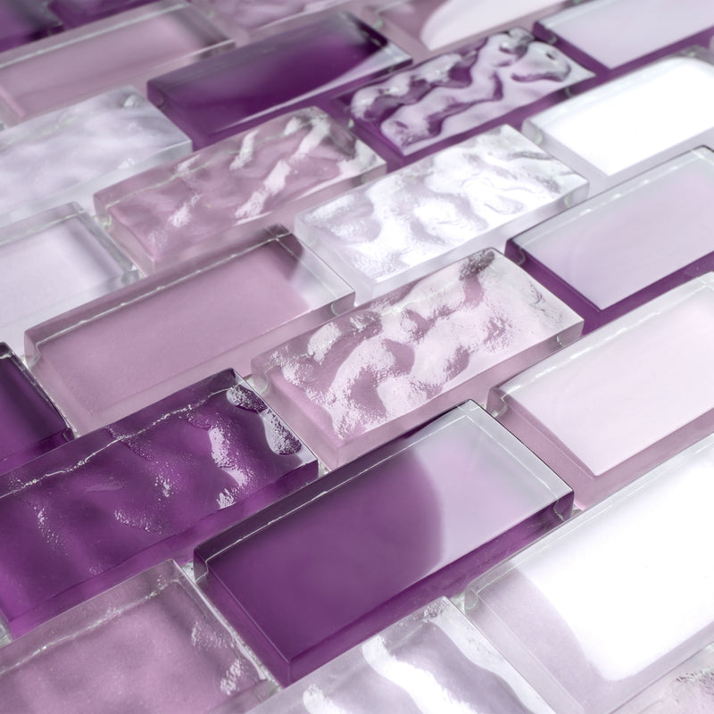 RCE-03  Rainbow Crystile Series - Purple Lover Mosaic Tile