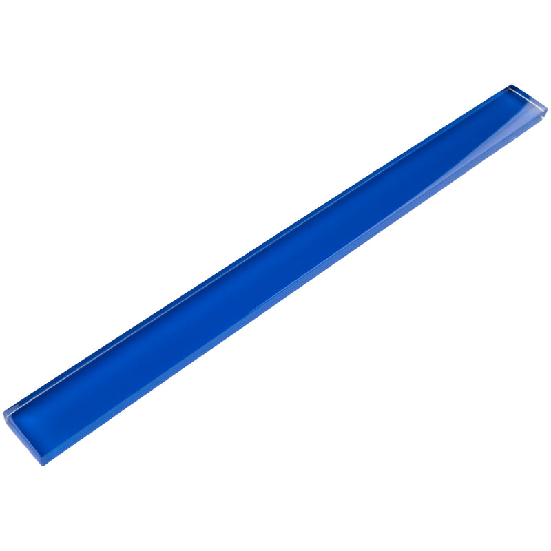 "CLIN-12  Electric Blue Glass Pencil Liner Wall Trim Molding 1""X12"" / 1/2""X12"""
