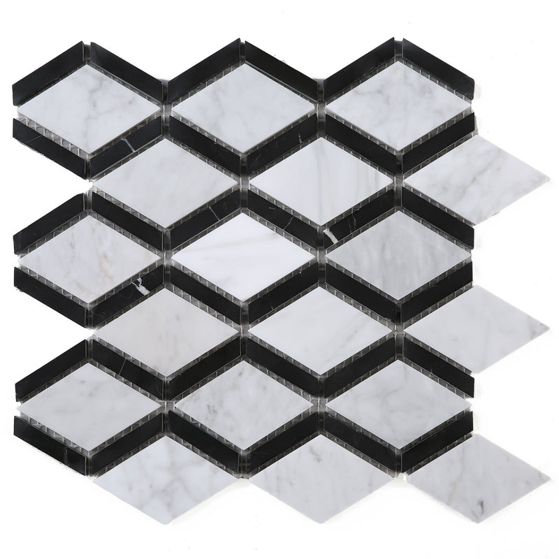 WHCA-06  White Carrara Series - Flow Mosaic Tile