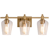 WL0001-3-03 3 Light Dimmable LED Vanity Light Modern Wall Sconces (Gold)