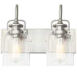 WL0004-2-02 2 Light Dimmable LED Vanity Light Modern Wall Sconces (Silver)