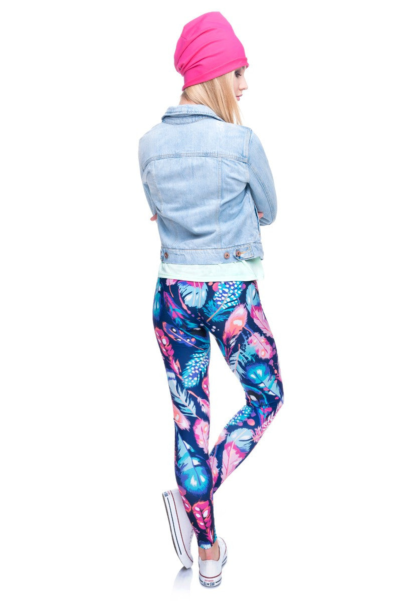 Trendy feather - Leggings - Legs11 Leggings