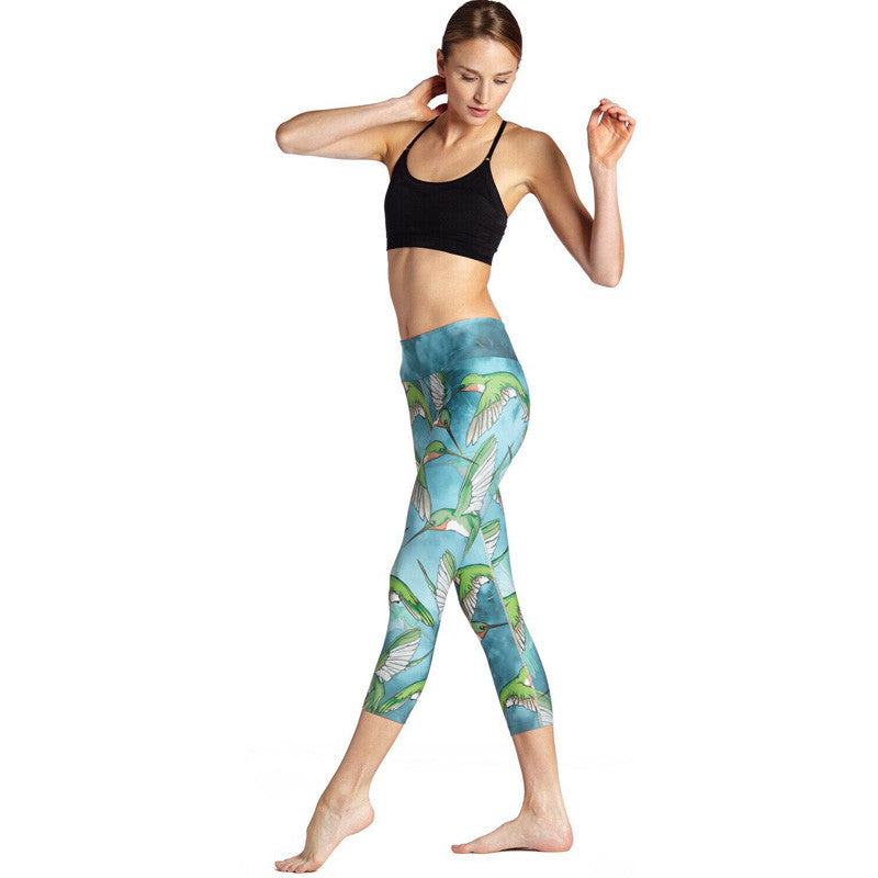 Holy Hummingbird - Capri Leggings - Legs11 Leggings